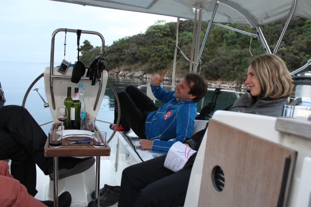 Večerní posezení v kokpitu