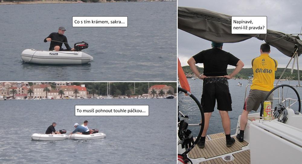 Dobrodružství ve člunu.
