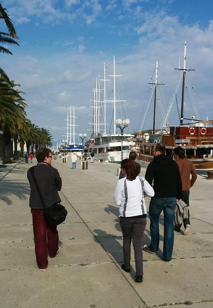 Procházka nezvykle klidným Trogirem