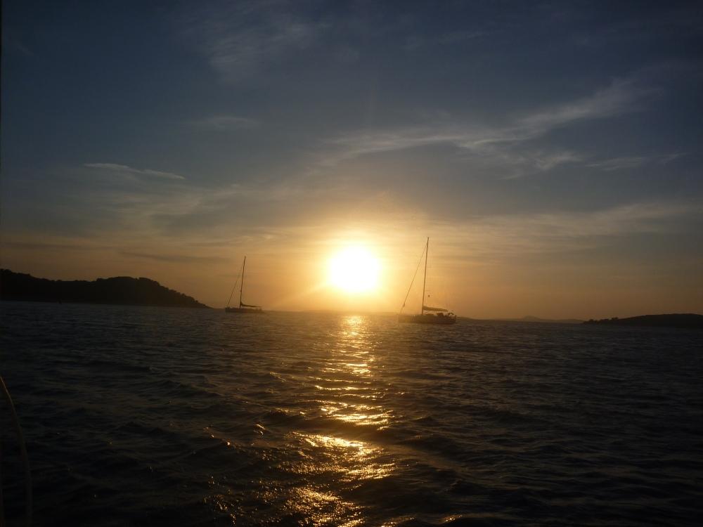 Západ slunce na Vrgadě