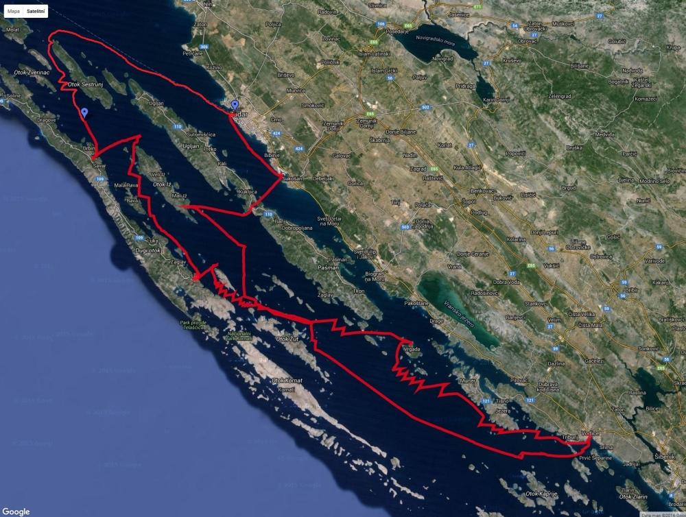 Záznam trasy AJP